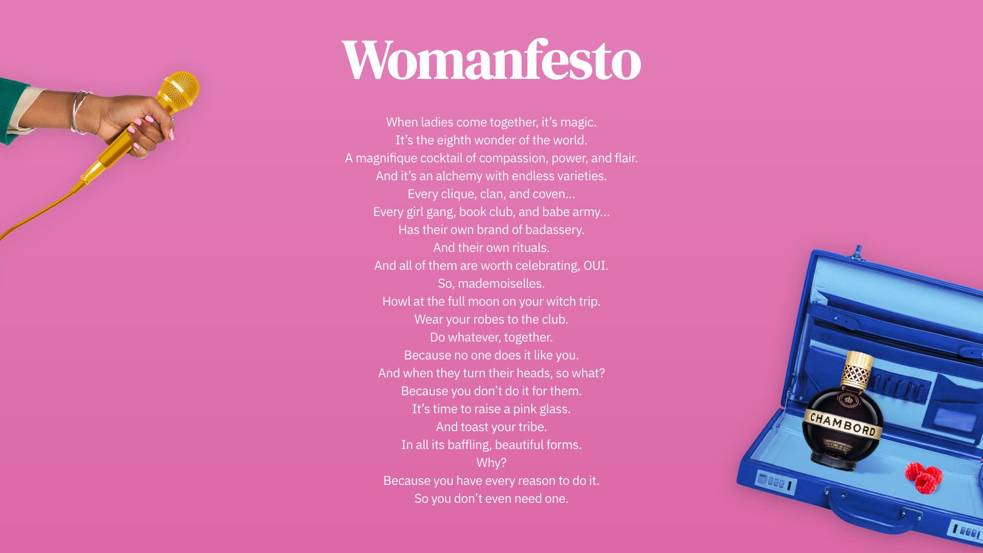Chambord Womanfesto