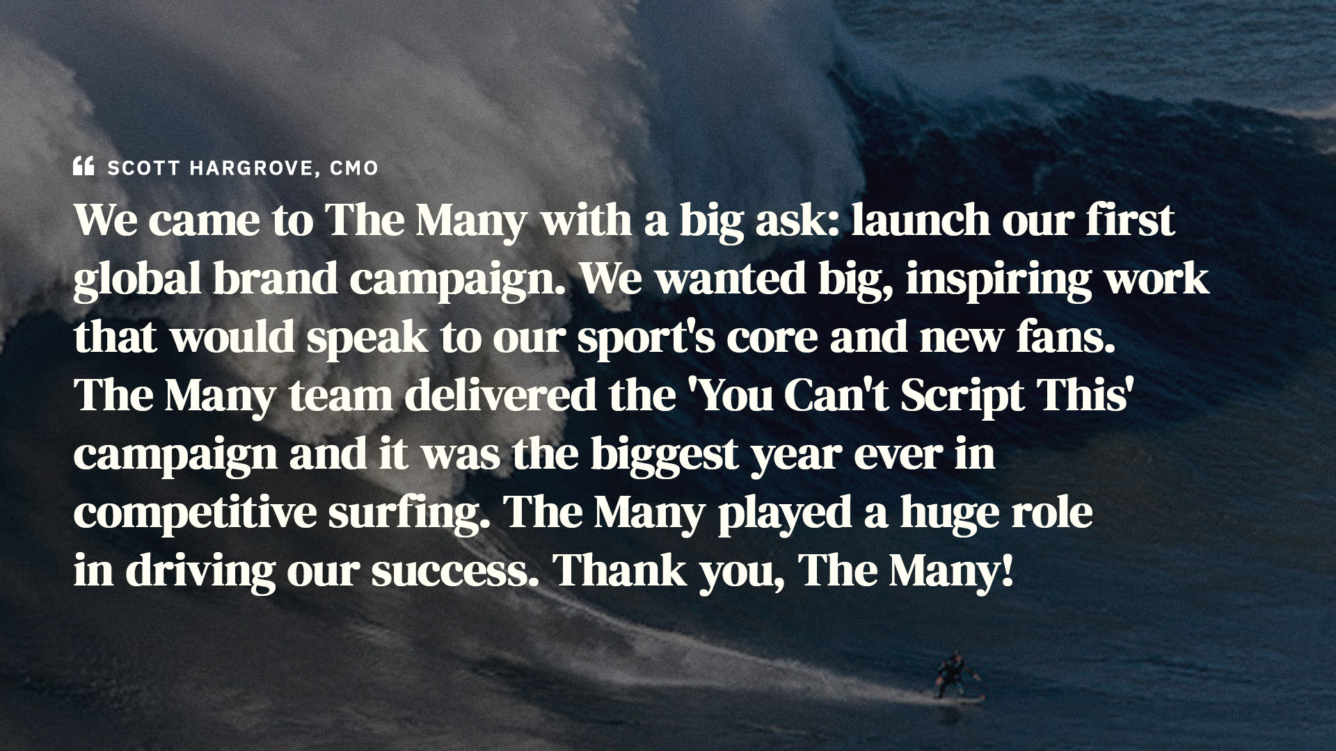 World Surf League Brand Quote