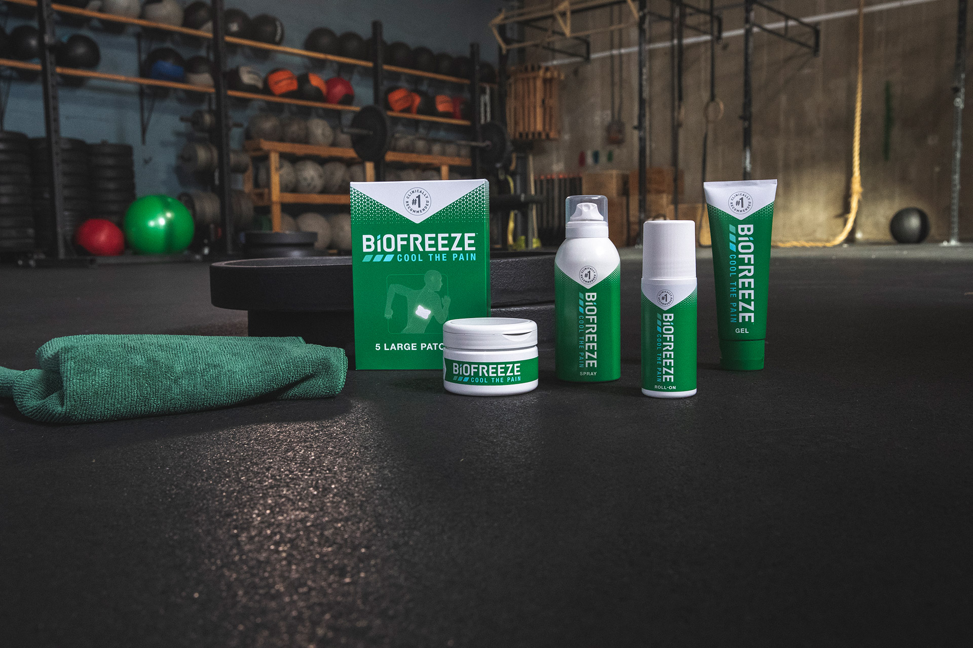 Biofreeze Product line shot by The Many